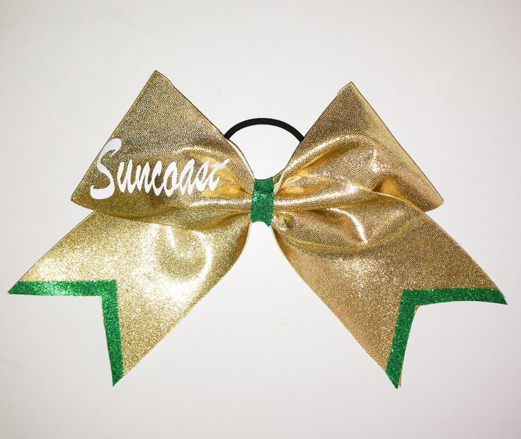 Suncoast High School Bow  www.justcheerbows.com Email sales@justcheerbows.com for team orders