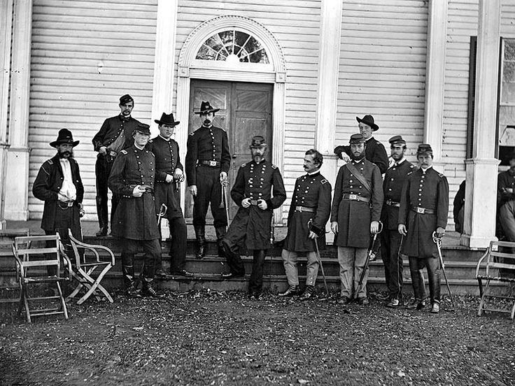 General George Meade with his staff in Culpeper, VA