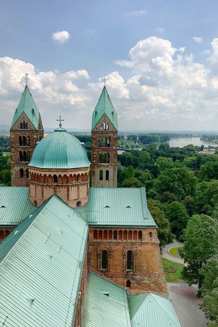 The Speyer Cathedral in Speyer, Germany, officially known as the Cathedral of St. Mary and St. Stephen, ranks as the largest preserved Romanesque church in