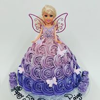 Purple Fairy Doll With large purple ombre roses