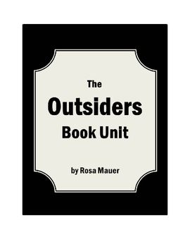 """Outsiders: Outsiders"""" is the focus of this book study. Chapter by chapter reading comprehension questions are given for """"The Outsiders. Outsiders answers are provided for the teacher. Click the red star to follow me.Click the star above to follow me.Save time and money by purchasing this bundle that includes Hatchet, Brians Return, and Brians Winter:Hatchet, Brians Return, and Brians Winter Book Unit Bundled SetBuy the three books individually here:Hatchet Book UnitBrian's Return Reading…"""