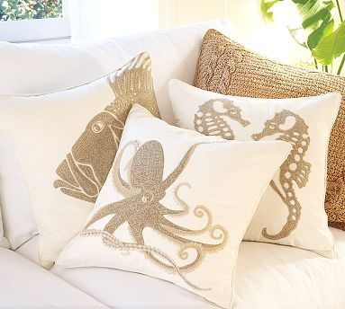 DIY pillows with stencils and fabric paint