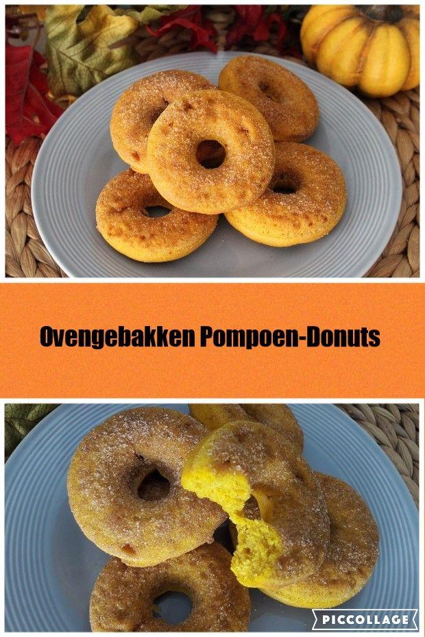 Pompoen Donuts - heerlijk luchtige donuts, in de oven gebakken, vetarm en heel makkelijk te maken.