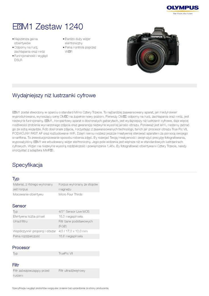 Olympus OM-D E-M1 // specyfikacja 8/8 // http://bit.ly/OM-D_pl