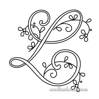 Monogram for Hand Embroidery via Mary Corbet: L