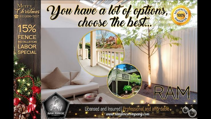 You have a lot of options,  choose the best - Ram Fence Company
