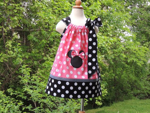 Minnie Mouse pillowcase dresses. Minnie by madebygrannyshands