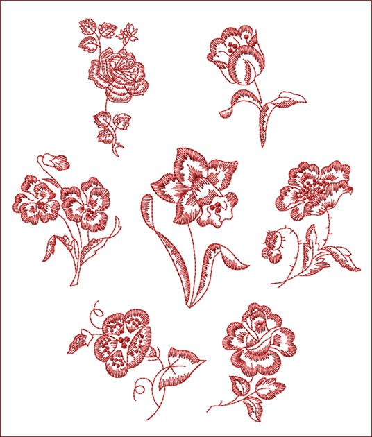 Free Redwork Patterns to Print | Machine Embroidery Designs | Redwork Patterns & Photo Stitch