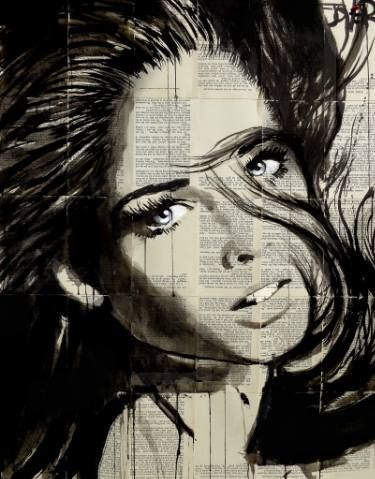 "Saatchi Art Artist LOUI JOVER; Drawing, ""flip"" #art"