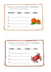 Classement alphabétique - Allycole | Classement ...