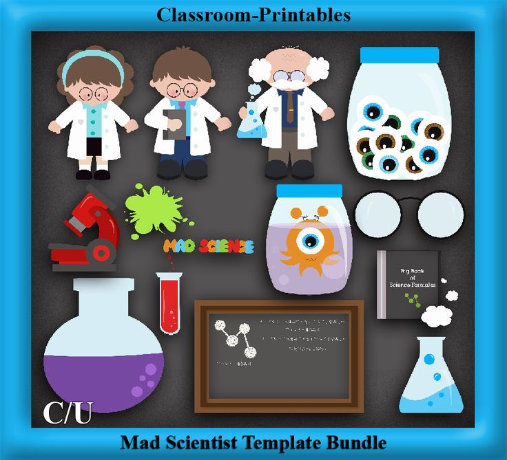 Mad Science Lab Clipart scientist clipart - digital clip art graphics ...