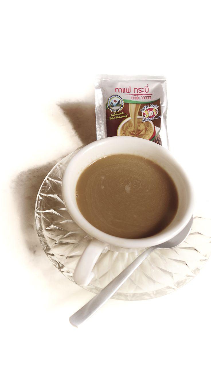 KRABI COFFEE instant coffee 3 in 1  กลุ่มแปรรูปกาแฟสด สตรีคลองท่อมเหนือ  จังหวัดกระบี่ 081-095-9890