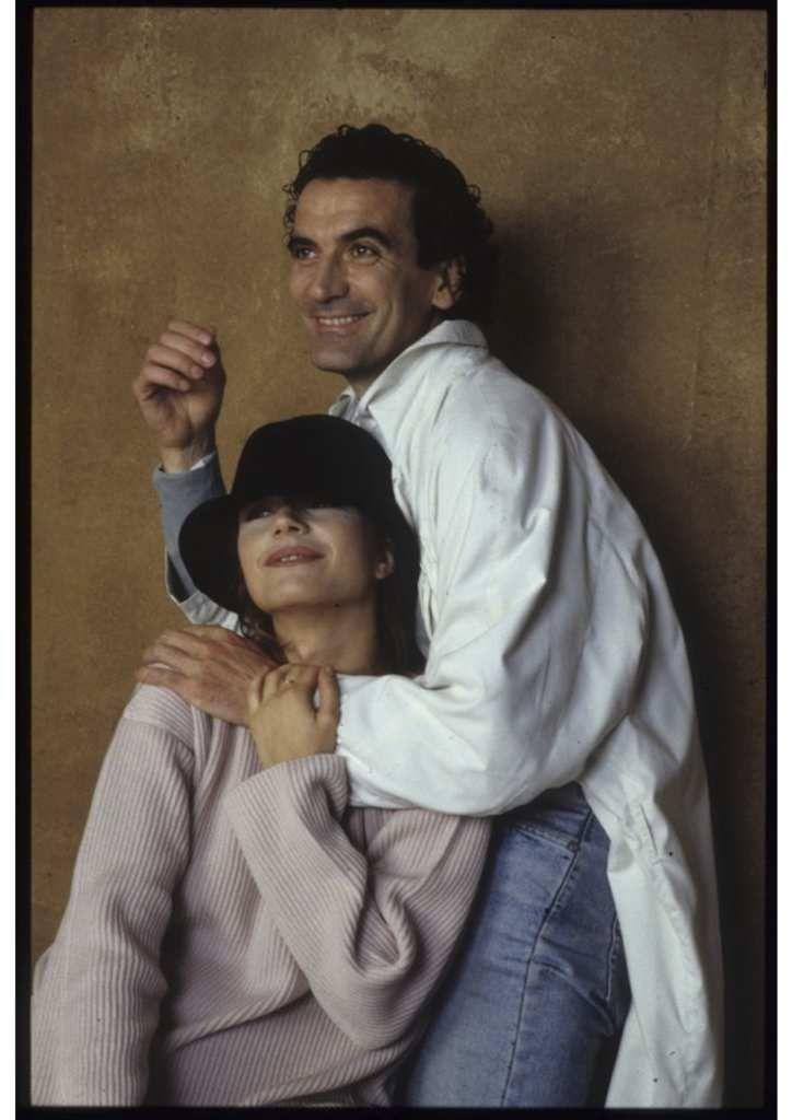 """Massimo Troisi e Francesca Neri  backstage di """"Pensavo fosse amore...invece era un calesse"""""""