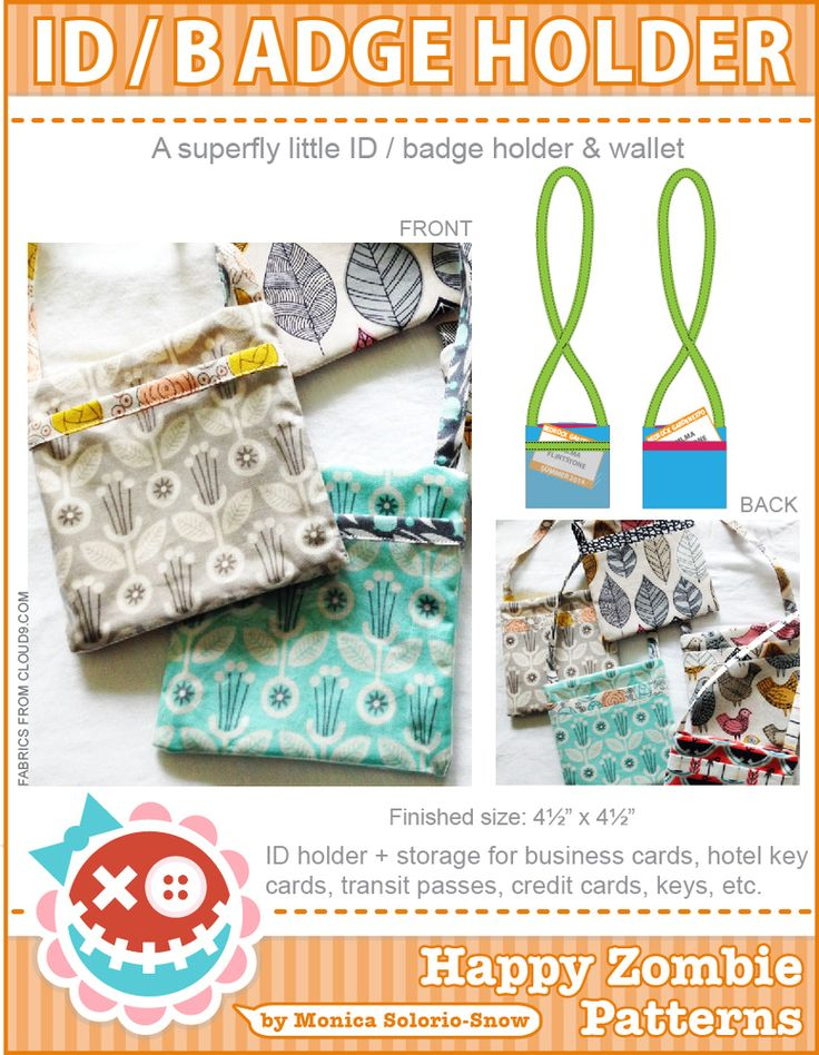 A superfly little ID/badge holder PDF pattern