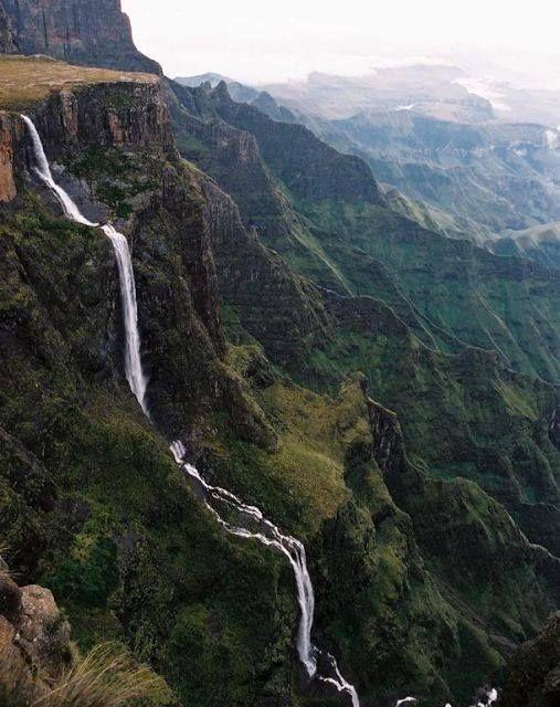 The Tugela Falls is highest waterfall in Africa and the planet's second highest waterfall in the Drakensberg