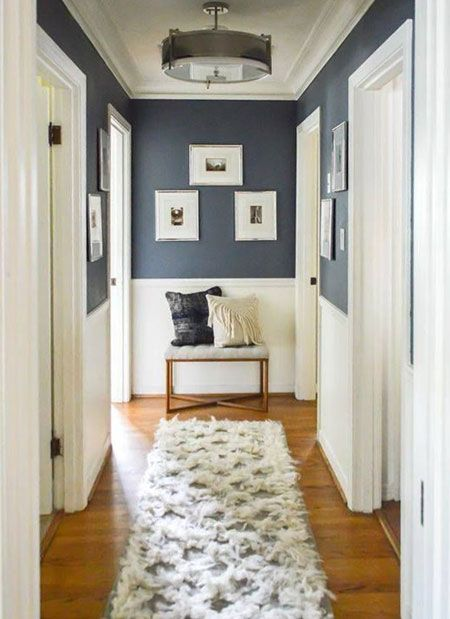 Choose lighting that adds some pizazz to a hallway and don't skimp in this a…