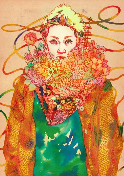 natsuki otani: Natsukiotani, Illustrations Art, Color, Art Inspiration, Art Prints, Juxtapoz Magazines, Natsuki Otani, Sugar Rush, Fashion Illustrations