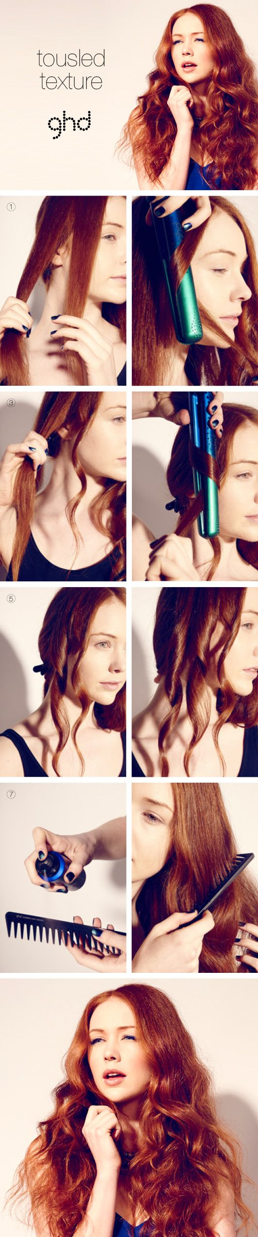How-to hair: Tousled Texture   #hair #howto #waves #ghd #hairstyles #summerhair #softwaves