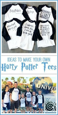 Love all of these ideas!!! - - diy make your own Harry Potter tees tshirt - - Sugar Bee Crafts