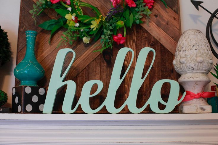 Hello Wood MDF Word Cutout, Scroll Cut Word, Hello Sign by 302WoodWorks on Etsy