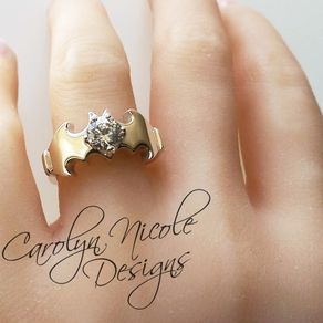 Batman Engagement Ring by Carolyn Nicole