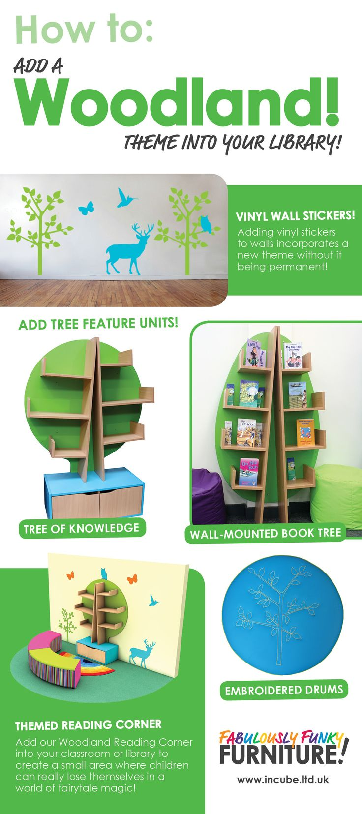 How to add a Woodland theme into your library or classroom with the help of Incube!