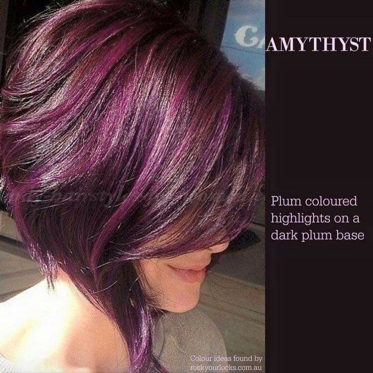 Plum highlights with dark plum base - fall color