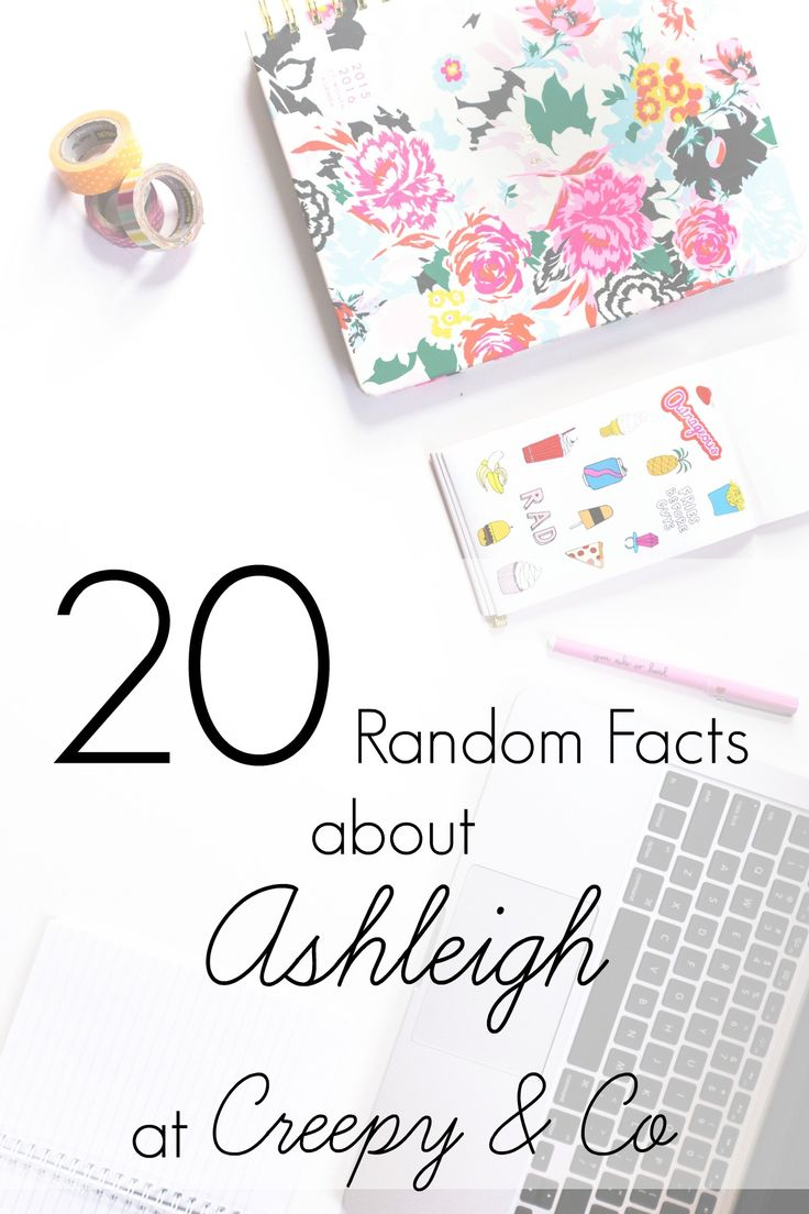 This week on the blog, Ashleigh from Creepy & Co shares 20 random facts about her, as well as a free quote printable for you to download.