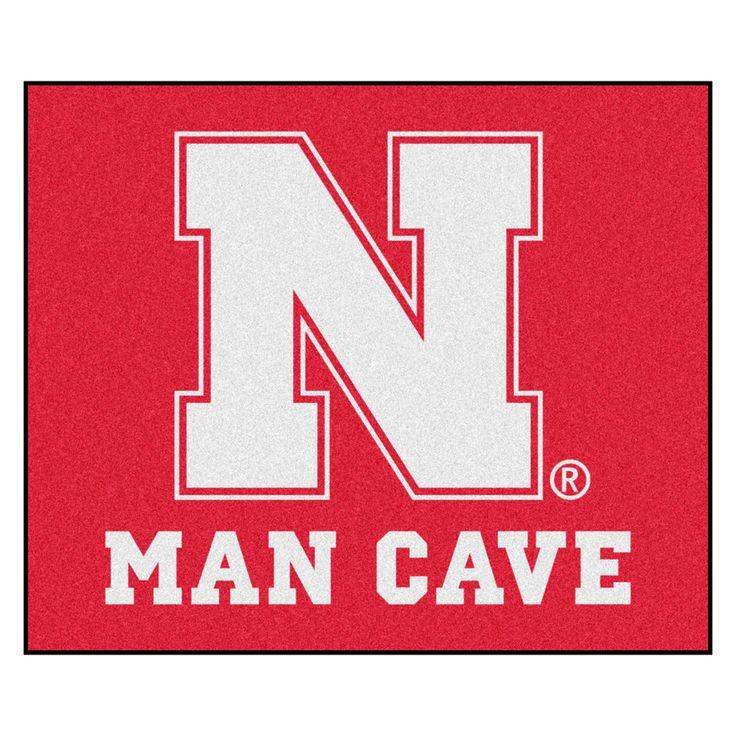 Nebraska Cornhuskers Man Cave Area Rug