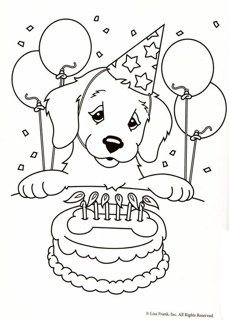 Раскраски открытка с днем рождения девочке