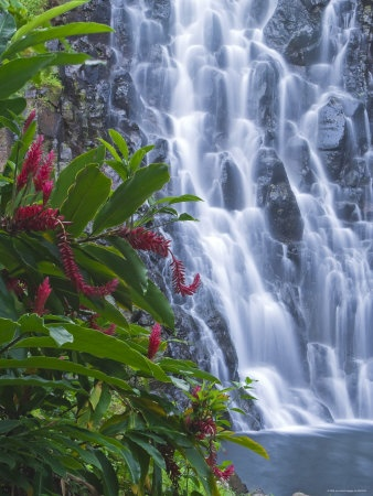 Kepirohi Waterfall, Pohnpei, Federated States of Micronesia, USA