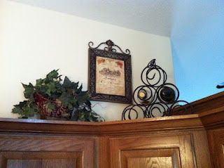 above cabinet decorations....