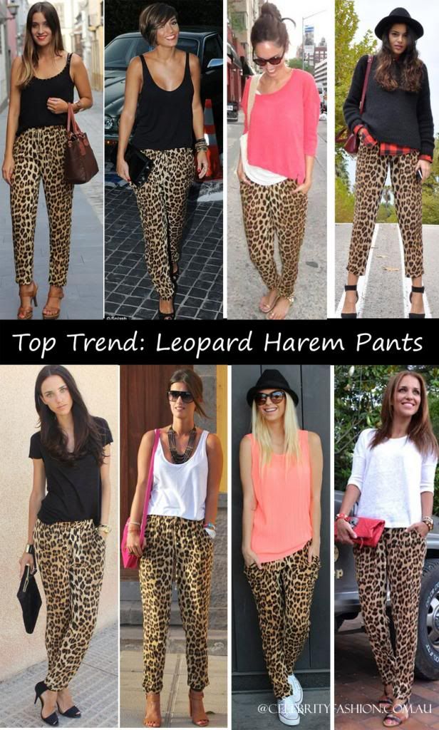 P01 2013 Celebrity Style Fashion Casual Loose Fit Leopard Print Women Harem Pants Lady Trousers Plus Size S M L XL XXL Freeship-inPants & Capris from Apparel & Accessories on Aliexpress.com