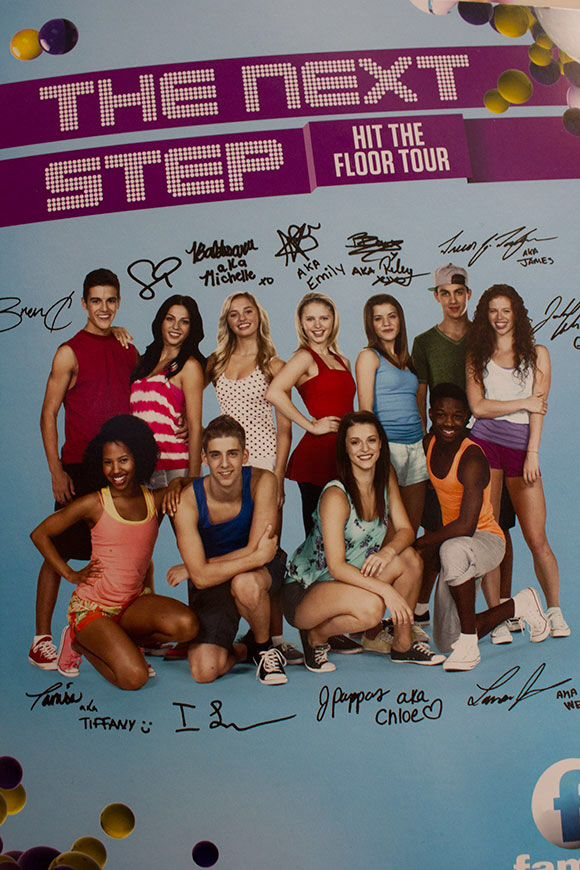 i got this signed by the real cast of THE NEXT STEP<<<<I WANT IT!!!!!