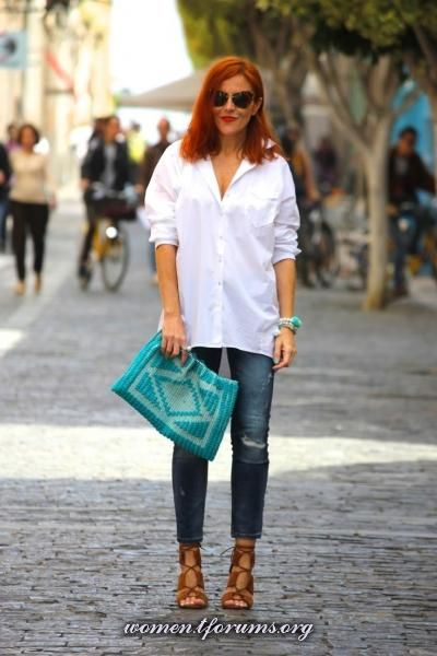Guccisima блог SoCute белая рубашка + джинсы