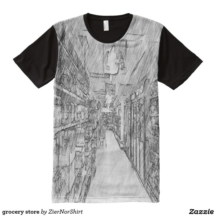 grocery store All-Over print t-shirt