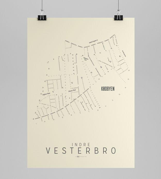 INDRE VESTERBRO DAY - Copenhagen Map - Art Rebels | Scandinavia Standard