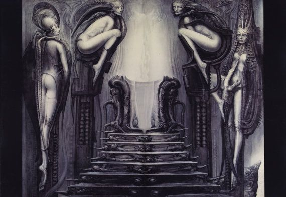H R GIGER Art Poster 24x29 by Reliableposter on Etsy
