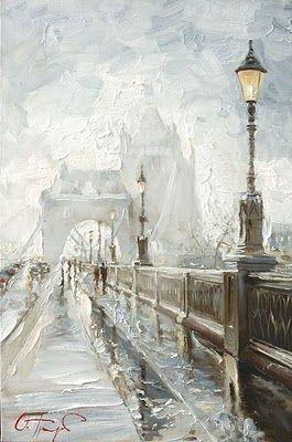 London Mist by Russian Artist Oleg Trofimov, Tower Bridge