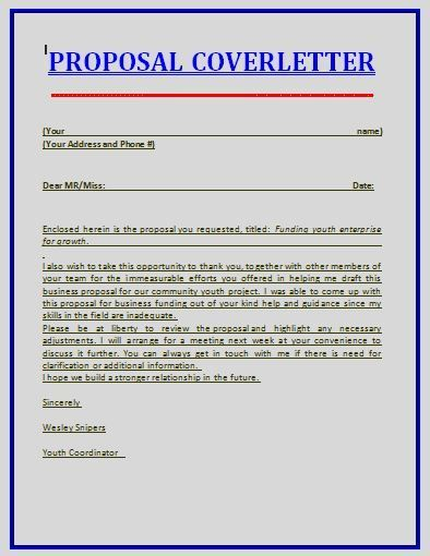 The 25+ best Sample proposal letter ideas on Pinterest Proposal - sample proposal cover letter