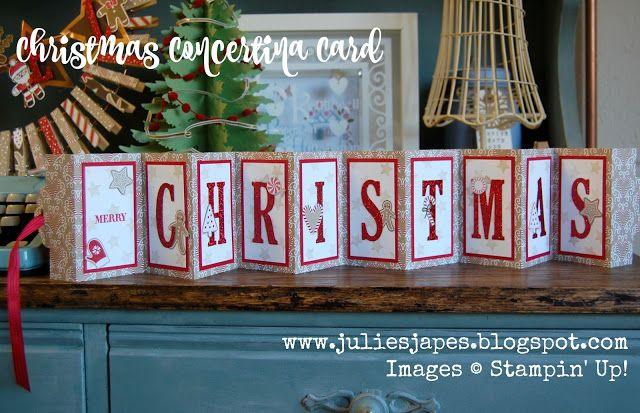 Julie Kettlewell - Stampin Up UK Independent Demonstrator - Order products 24/7: Christmas Concertina Card