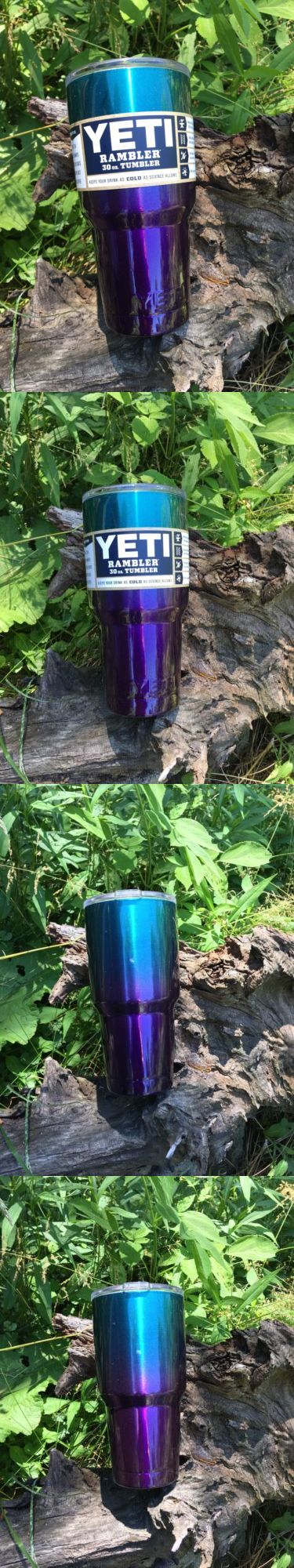 Other Camping Cooking Supplies 16036: Real Yeti 30 Oz. Insulated Tumbler Acai/Grape Starburst Custom Powder Coated BUY IT NOW ONLY: $60.0