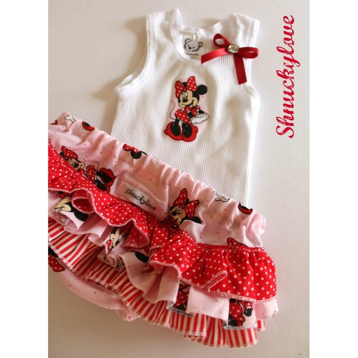 $40.00 s 0 to 3m MINNIE MOUSE RNC and matching singlet by Shnuckylove on Handmade Australia