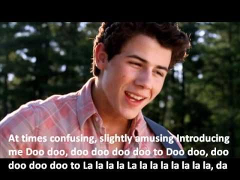 Introducing Me - Nick Jonas (Official video and lyrics) Camp Rock 2