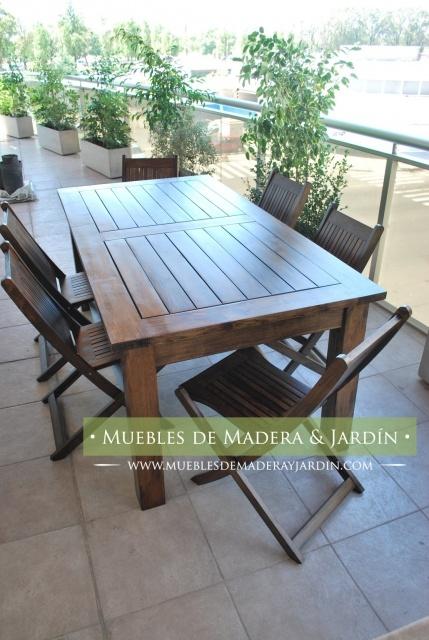 Mesa para balcon con sillas plegables mesas pinterest - Mesa colgante para balcon ...