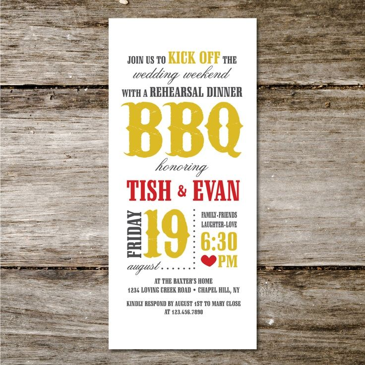 creative wording for rehearsal dinner invitations%0A Tablescapes southern barbecue rehearsal dinner   BBQ Rehearsal Dinner invite