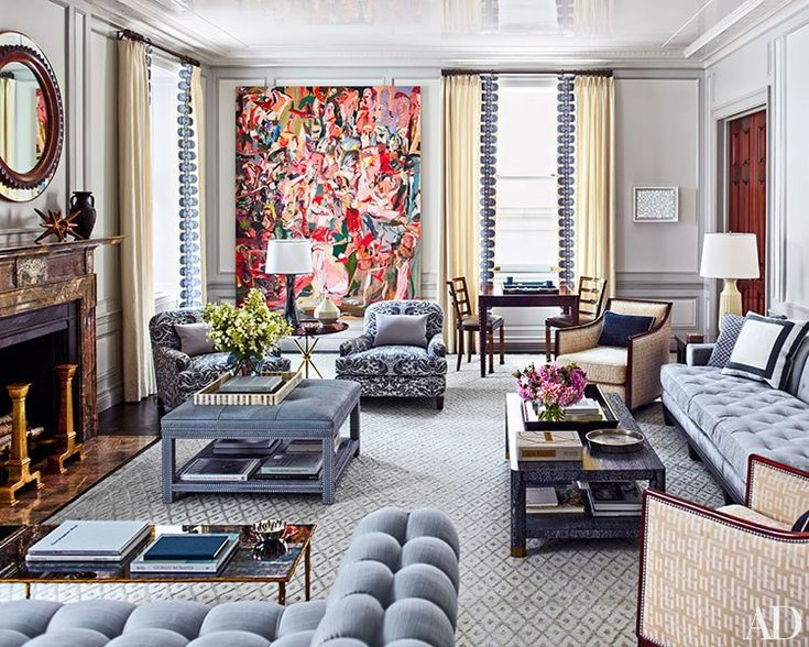 New York City Duplex Revamped By Steven Gambrel