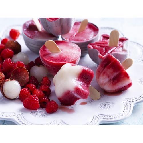Raspberry, lime & lychee popsicles recipe - By Australian Women's Weekly