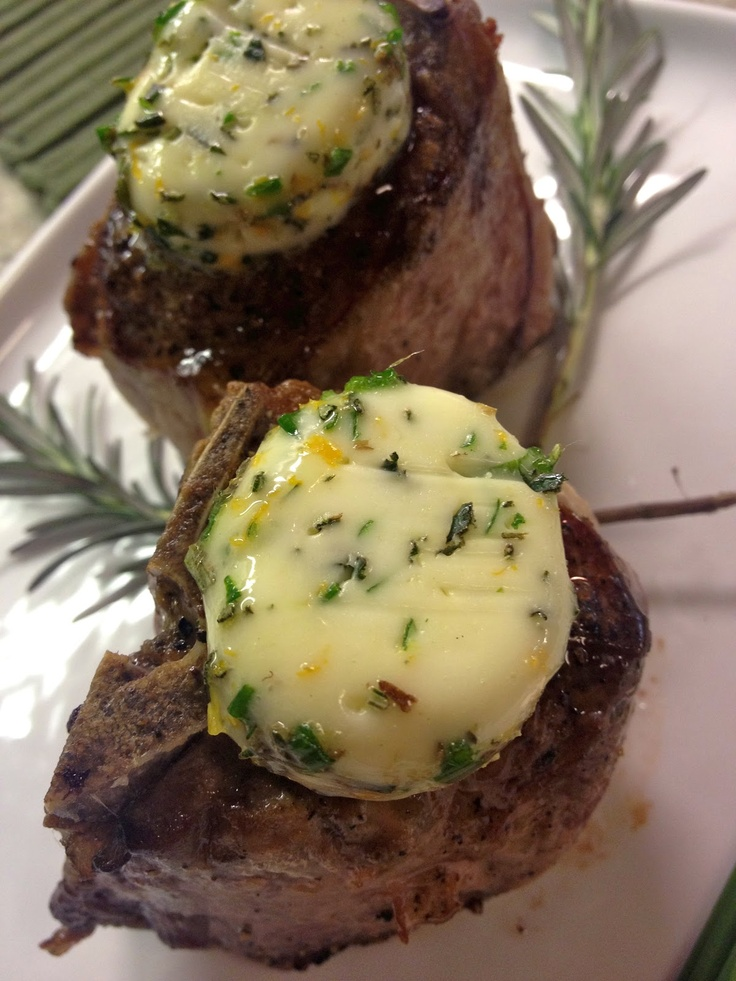 Lamb Loin Chops with Meyer Lemon and Herb Butter. So delicious, so ...