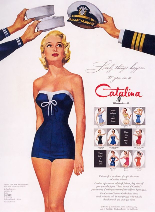 Vintage sailor swimsuit
